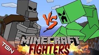 getlinkyoutube.com-MUTANT SKELETON VS MUTANT CREEPER: MINECRAFT FIGHTERS - Arena Battle