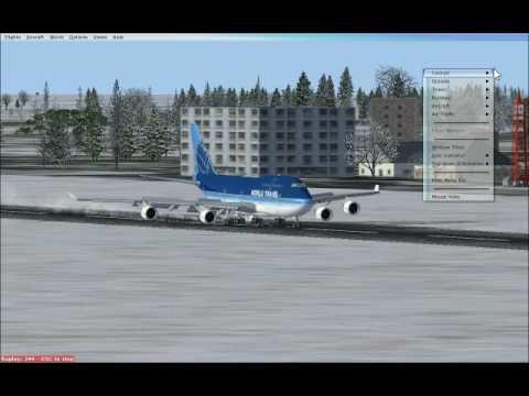 747 Autolanding in Arad, Romania