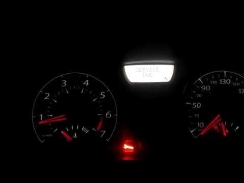 Renault Megane, как сбросить ключик и надпись SERVICE DUE