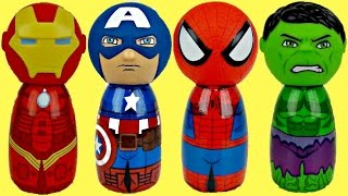 getlinkyoutube.com-AVENGERS Body Bath Wash, Spiderman, Ironman, Incredible Hulk, Captan America TOYS / TUYC