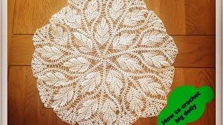 """getlinkyoutube.com-How to crochet big doily  17"""" diameter - Part 1 of 3"""