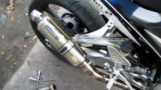 getlinkyoutube.com-[YamahaT135.COM] DBkiller AHM M1 All Stainless Racing Exhaust for Yamaha Sniper Soundtest