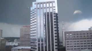 getlinkyoutube.com-Tornado Comes Too Close For Comfort in High Rise Building