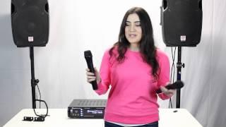 getlinkyoutube.com-Rockville RPA7000UWM 1000 Watt 4 Channel Pro/Karaoke Amplifier & Mixer Demo/Review