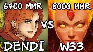 getlinkyoutube.com-Dendi 6700MMR Plays Windrunner vs w33 8000MMR  Plays Lina - Ranked Match Dota 2 Gameplay