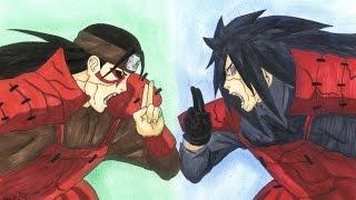 getlinkyoutube.com-Drawing Madara Uchiha vs Hashirama Senju