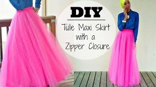 getlinkyoutube.com-Nadira037 | DIY | Tulle Maxi Skirt | With a Hidden Zipper