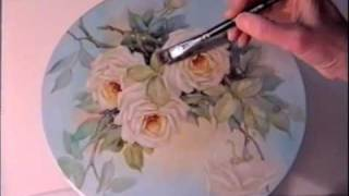 getlinkyoutube.com-China Painting Tutorial - Peace Roses - Barbara Duncan