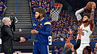 NBA 2K16 MyCAREER Playoffs - R1G1 | Emotional MVP Ceremony Speech, Cam POSTER DUNK In Playoff Debut
