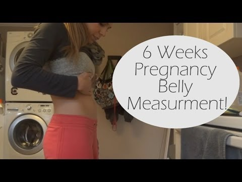 6 Weeks Pregnancy Belly Measurement!
