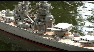 getlinkyoutube.com-RC models of warships  Richelieu, USS Enterprise, Roma ...