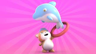 getlinkyoutube.com-Looi the Cat | 3D Animation for Kids | Dolphin | Animal Toy Cartoons | Puzzle