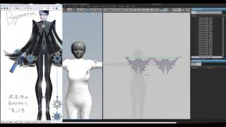 getlinkyoutube.com-Let's make cosplay in Marvelous Designer 2: Bayonetta attempt