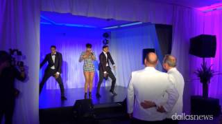 getlinkyoutube.com-Jennifer Hudson surprises gay couple at Dallas wedding