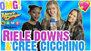 getlinkyoutube.com-Riele Downs & Cree Cicchino Talk Valentines (Jace Norman?) & Henry Danger Set Visit