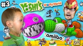 getlinkyoutube.com-Dad & Chase play YOSHI'S WOOLY WORLD #3: No Pokemon Animals can Cross! (More FGTEEV Amiibo Action!)