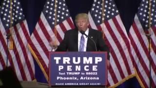 Donald Trump à la frontière américano-mexicaine