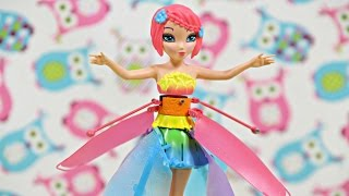 getlinkyoutube.com-Deluxe Light Up Flutterbye Fairy - Rainbow / Tęczowa Latająca Wróżka - Flutterbye - Cobi