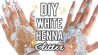 Beauty Busters: Poop or Woop? DIY White Henna + Glitter!