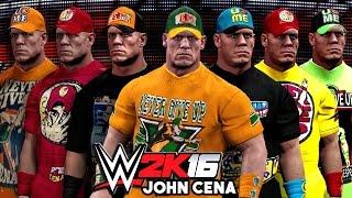 getlinkyoutube.com-WWE 2K16 - John Cena Top 10 Attires - Community Creations!!