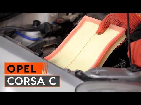 How to replaceAir FilteronOPEL CORSA C TUTORIAL | AUTODOC