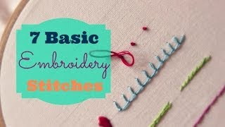 getlinkyoutube.com-7 Basic Embroidery Stitches | 3and3quarters
