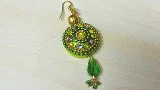 47. Quilling Jewellery - Ethnic Indian Design Earrings Tutorial
