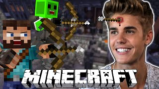 Minecraft Mini-Game | INFESTATION - SHOOTING JUSTIN BEIBER!