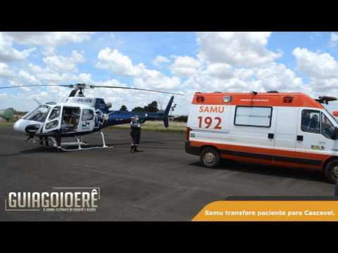 Morador de Quarto Centenário foi transferido de Helicóptero para Cascavel
