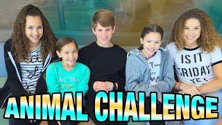 getlinkyoutube.com-Animal Challenge!  (MattyBRaps & Haschak Sisters)