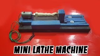 getlinkyoutube.com-How to make a MINI LATHE MACHINE for your own