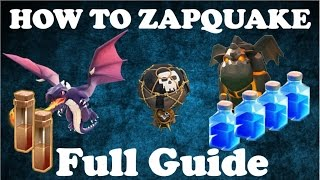 getlinkyoutube.com-The ZapQuake BIBLE - Full Exclusive 3 Star Guide For Th9 Bases - January 2016