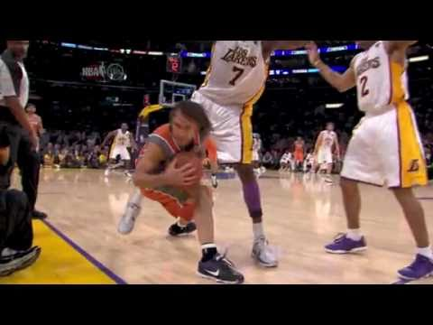 Steve Nash AMAZING pass to Gortat. Lakers 3OT