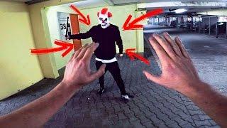 getlinkyoutube.com-PARKOUR VS KILLER CLOWN - THE REVENGE - PARKOUR POV | GoPro HERO5