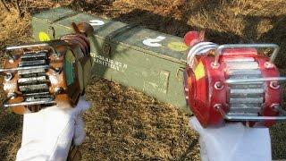 getlinkyoutube.com-REAL LIFE MYSTERY BOX - Dual Wield Ray Guns & Cymbal Monkeys
