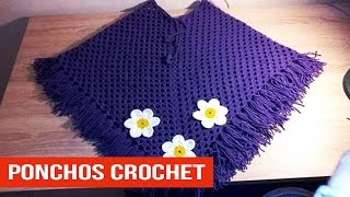 getlinkyoutube.com-Poncho Para Niña Tejidos a crochet