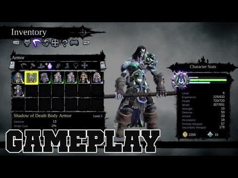 Darksiders 2 SHADOW OF DEATH Exclusive Weapons & Armor Gameplay