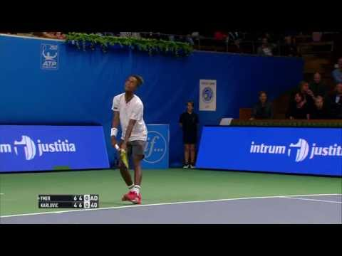 If Stockholm Open  great point by Mikael Ymer against Ivo Karlovic