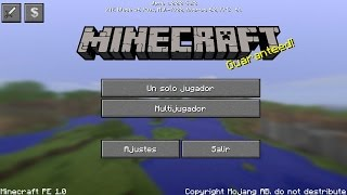 getlinkyoutube.com-MINECRAFT PE 1.0  OFICIAL 100% IGUAL A PC | MINECRAFT PE 1.0 NUEVA INTERFAZ IGUAL A PC!!