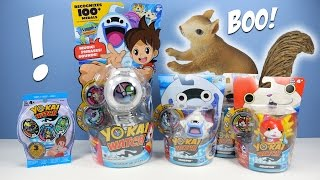 getlinkyoutube.com-YO-KAI Watch Series 1 Medals Whisper Jibanyan & Komasan Toys Opening