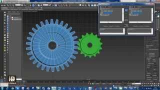 شرح طريقة إنشاء التروس  و تحريكها 3ds max gear tutorial