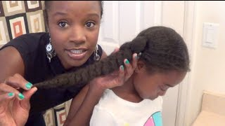 getlinkyoutube.com-How to maintain little girls natural hair | Butterfly