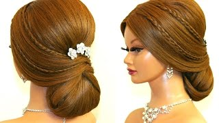 getlinkyoutube.com-Wedding prom hairstyle for long hair. Romantic updo