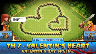 getlinkyoutube.com-★ Clash of Clans Troll Base ★ TH7 - Valentin´s Heart Hybrid