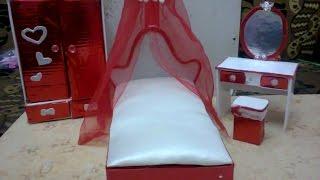 getlinkyoutube.com-كيف تصنع سرير دميه باربى من الكرتون
