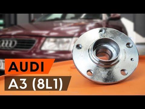 Hoe een achterste wiellager, wielnaaf vervangen op een AUDI A3 1 (8L1) [HANDLEIDING AUTODOC]