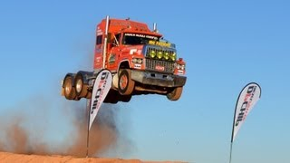 Semi Truck Jump, Prime mover  www.loveday4x4adventures.com