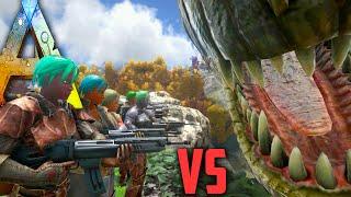 getlinkyoutube.com-Ark Survival Evolved - Giganotosaurus vs Halo Tribe - NPC Tribe Wars Gameplay