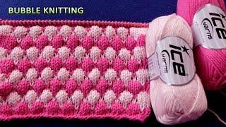 getlinkyoutube.com-Bubble Knitting | 2 Color Pattern