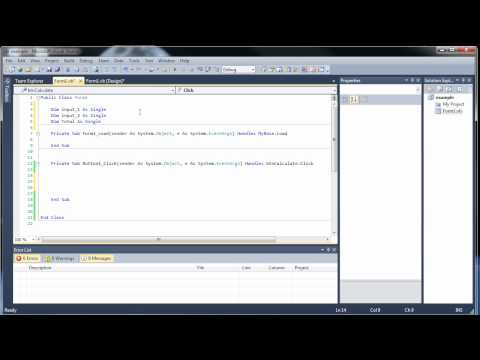 Visual Basic Tutorial 3 - Buttons, Text Boxes, Boxes, and Arithmetic and Assignment Operators